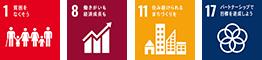 SDGs - 1 8 11 17