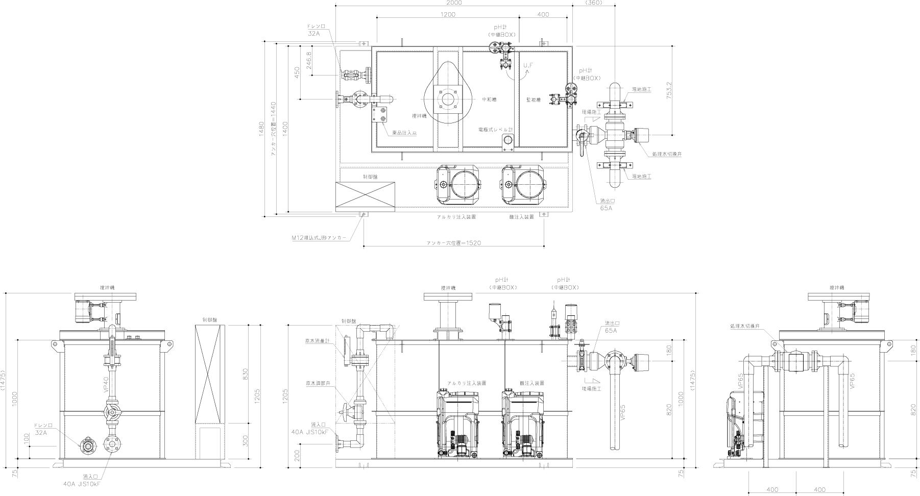 中和装置外形図